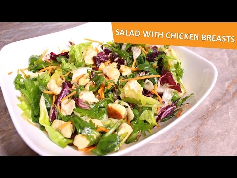 Healthy Salad With Chicken Breasts - Til