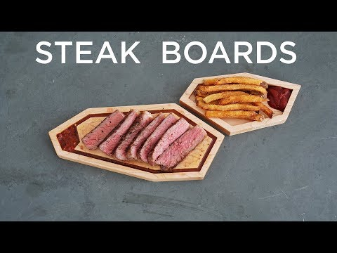 CNCed Steak Boards