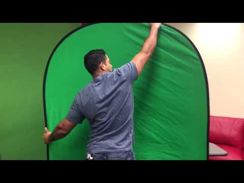 How to fold a portable green screen -SIMPLE!