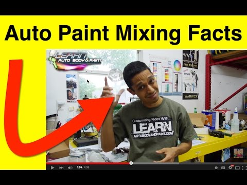 Automotive Paint Mixing Facts - How To Mix Paint and Pot Life