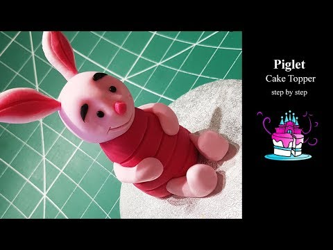 Winnie the Pooh - Piglet Cake Topper