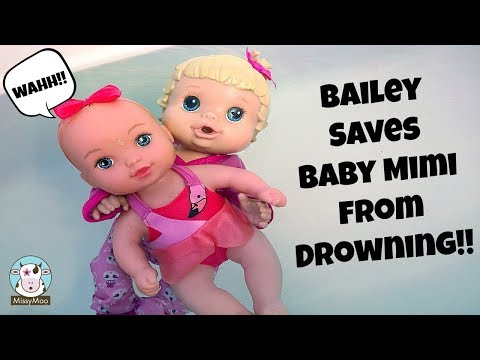 Baby Alive Bailey saves a baby from drowning