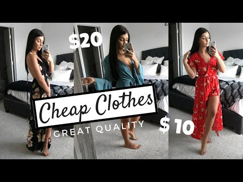 LOOKING EXPENSIVE ON A BUDGET! Cheap & affordable clothes