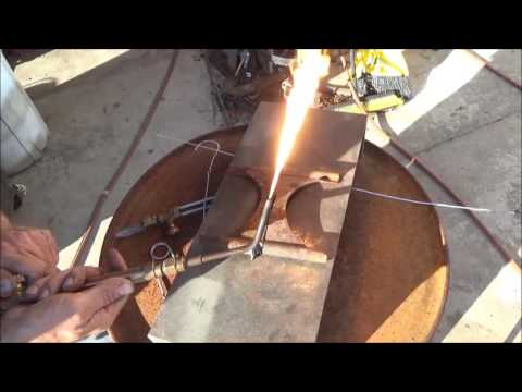 Basic gas welding on a muffler, then on some scrap
