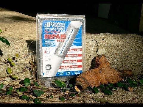 Another Water Leak Repair : Rusted Pipe : DuraPower Tape
