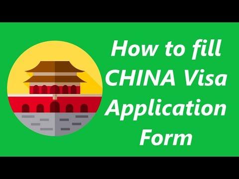 How to fill China visa application form | Apply China Visa Online