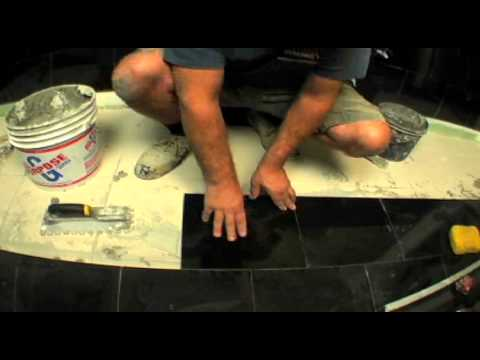 Granite in the Bathroom / Episode 4 / The Floor (tile on  tile)with leveling by RASTA TILE MAN