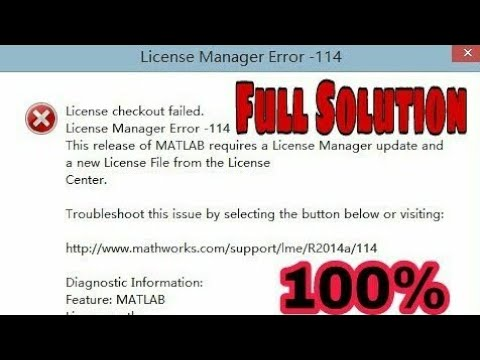 MATLAB - License Checkout Failed - R2014a- Full Solution - |Fixed|