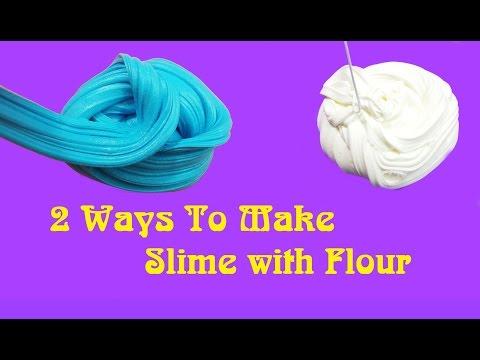 2 Ways To Make Slime with Flour!! DIY Flour Slime No Borax Recipes!