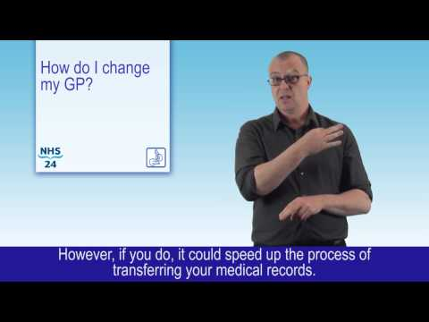 Health in my language - How do I change my GP?  (BSL)