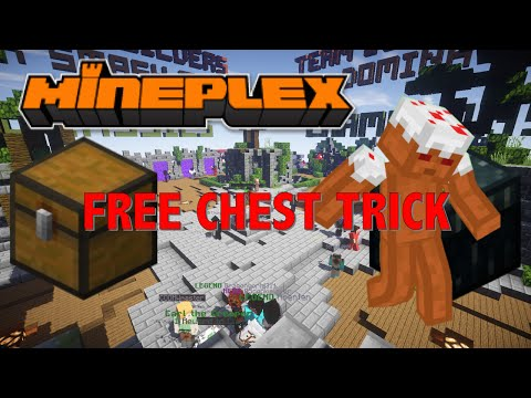 Mineplex- FREE CHEST TRICK AND OPENING?!?!
