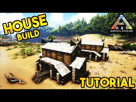 How To Build Medieval House Tutorial - Ark Survival Evolved [NO MODS]