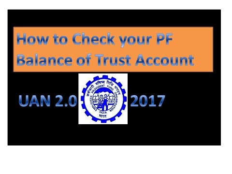how to check pf balance of trust