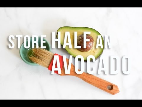 How To Store Half An Avocado