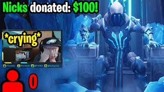I donated to Twitch Streamers with 0 viewers to help make their day! (emotional reactions)