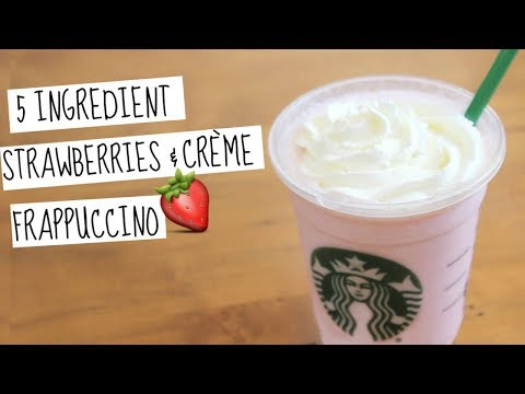 Strawberries & Crème Frappuccino | Starbucks Secret Menu Recipe