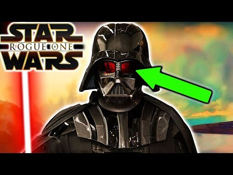 Why Darth Vader's Lenses Were So Red in Rogue One - Star Wars Explained