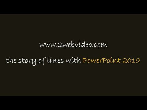 Demo of Line Animation In PowerPoint 2010