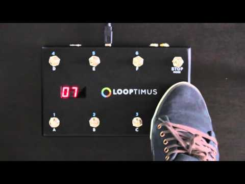 Looptimus USB MIDI Foot Controller: Program Change Mode