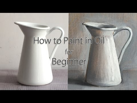 Full Step by Step Oil Painting Tutorial for Beginner, How to Paint in Oil for Beginner