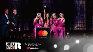 'Woman Like Me' by Little Mix wins British Artist Video of the Year | The BRIT Awards 2019