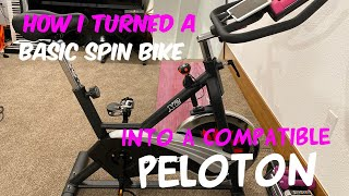 How I converted a basic spin bike into a compatible Peloton!