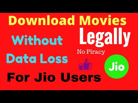 Download Movies Legally From Internet Without Any Data Loss | No Piracy - Legal Way | Jio Cinema App