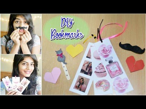 DIY Easy Bookmarks | Heart, Photostrip, Mustache & Cat