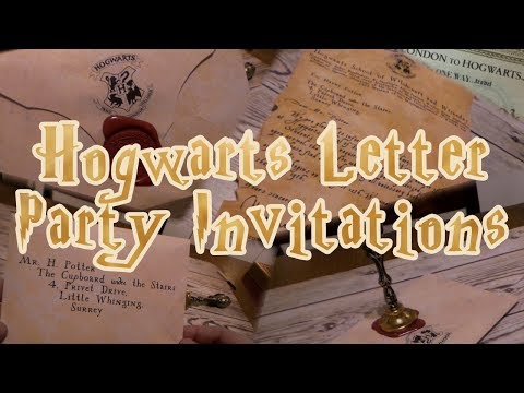 Hogwarts Letter - Wizarding World Party Invitations