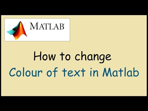 How to change colour of text in Matlab