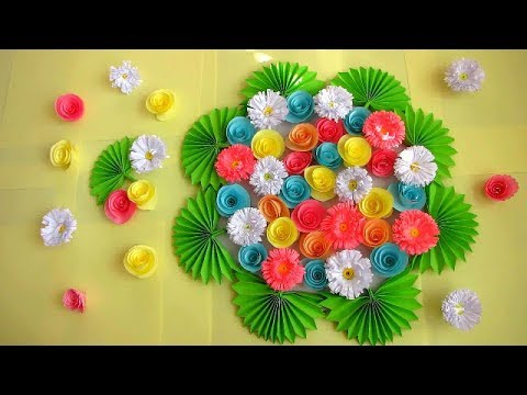 DIY. Simple Home Decor. Wall Decoration. Hanging Flower. Paper Craft Ideas #14