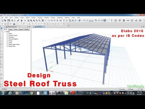 Design STEEL ROOF TRUSS in Etabs 2016 as per IS Codes