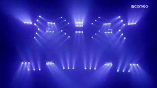 cameo auro matrix 500 and auro bar 100 cameo hydrabeam 100 rgbw lighting set