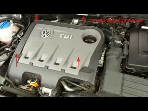 vw passat b7 2011-2014 tdi oil filter change, replacement