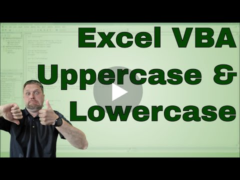 VBA using Uppercase and LowerCase (UCase and LCase) - Code included