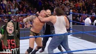 WWE Smackdown 1/17/17 Dean Ambrose vs Randy Orton