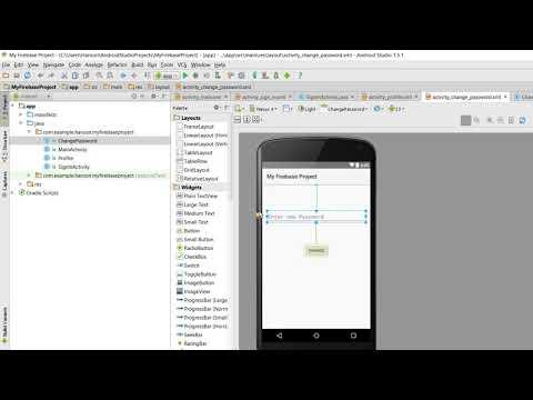 Firebase Tutorial in Android Studio - Change Password/ Delete Account