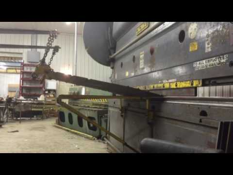 Building a skid steer bucket with press brake by myself