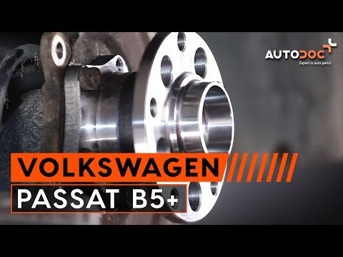 How to replace a rear wheel bearing on VW PASSAT B5+ TUTORIAL | AUTODOC