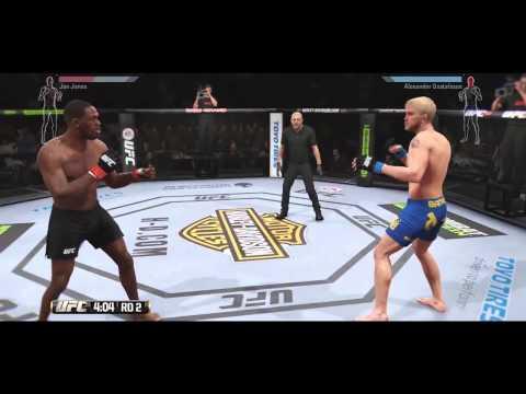 EA UFC 2 - FULL FIGHT GAMEPLAY Jones vs Gustafsson ENDING 1