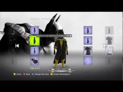 Batman: Arkham City Xbox Live Avatar Marketplace Items (Updated 5/22/12 Batman Beyond)