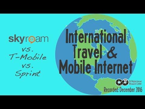 International Mobile Internet Cellular Roaming - Skyroam vs T-Mobile vs Sprint Open World