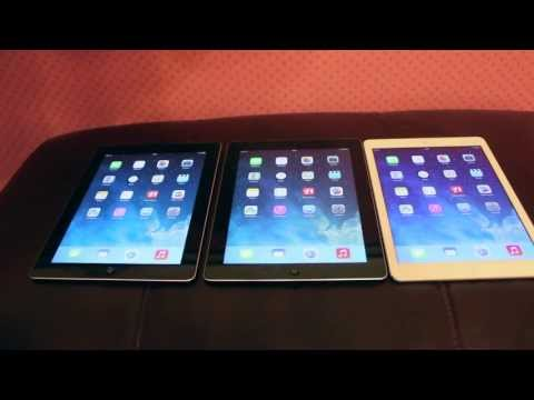 iPad Air VS iPad 4 VS iPad 2 - Speed Test Comparison