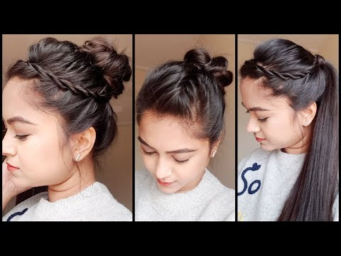 3 QUICK EASY HOLIDAY HAIRSTYLES FOR Medium/ LONG HAIR //Easy Indian hairstyles for girls