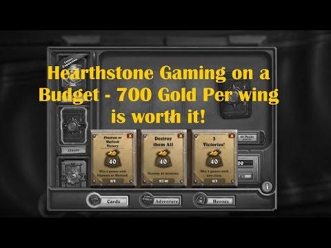 Hearthstone - Save gold for wings - BUY LAST WINGS FOR 10 BUCKS! (NAXXRAMAS & BLACKROCK)