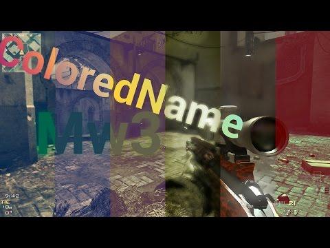 Colored Name Mw3 Splitscreen [Tutoriol] |HD| TwistyMoDzZ