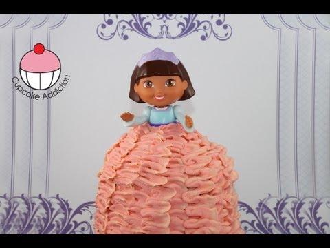 Dora Princess Cake -- Dora The Explorer Giant Cupcake Princess Cake by Cupcake Addiction