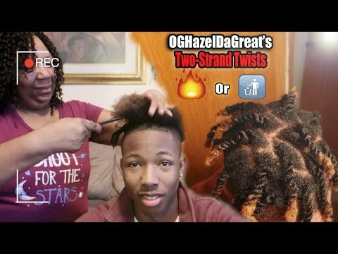 My AUNT does my TWO-STRAND TWISTS! | Two-Strand Twist Challenge!