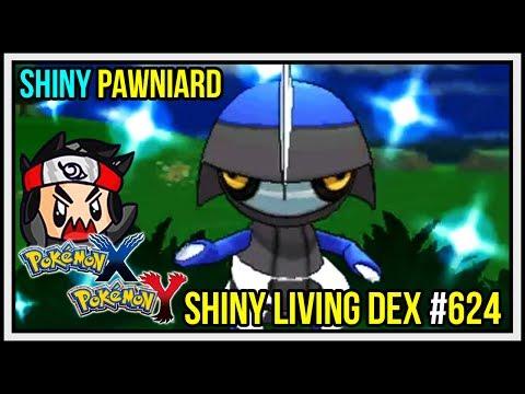 SHINY PAWNIARD WITH EVILSKYHAWK & jrry0ak! Shiny Living Dex #624 Pokemon X and Y