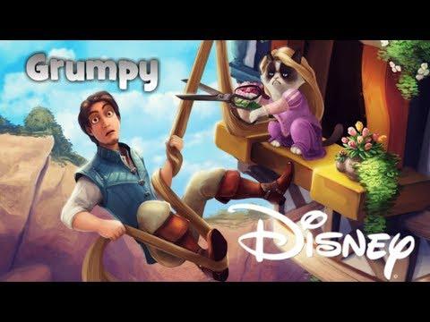 Grumpy CAT as Disney Characters!!!